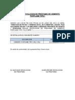 Acta de Devolucion de Prestamo Julio c. Telloa