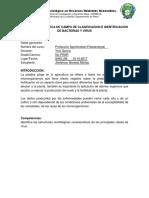 Informe de Práctica de Campo de Clasificacion e Identificacion de Bacterias y Virus