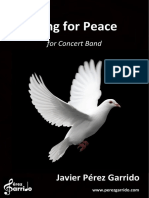 Free Sheet Music for Band Song for Peace SCORE Www.perezgarrido.com