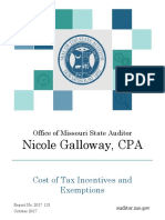 Tax Incentives Cost Audit
