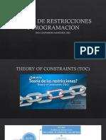 Teoria de Restricciones y Programacion