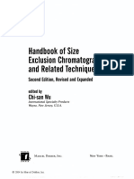 Wu, Chi-San Handbook of Size Exclusion Chromatography and Related Techniques Revised and Expanded