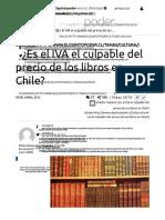 ¿Es El IVA El Culpable Del Precio de Los Libros en Chile_ - El Quinto Poder