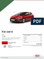 Kia Configurator Ceed Active 20170830