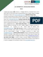Didáctica de las Matemáticas en la escuela multigrado (Universidad de la Sabana)