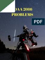 IOAA 2016 Problems