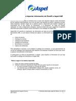 Importacion de Informacion de Excel a Aspel SAE
