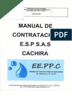 Manual de Contratación Empresa Servicios Públicos 2016