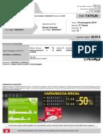 Biglietto Trenitalia Verona Roma