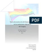 Tras la deconstrucción del binarismo sexual en las instituciones educativas del Uruguay
