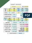 General Draft Survey - Excel Format