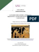 Las Mujeres Griegas Desde La Perspectiva Arqueologica. Los Documentos Figurativos Los Vasos Pintados.