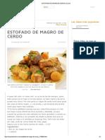 Estofado de Magro de Cerdo _ Cocina