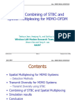 Htsg Optimal Combining Stbc and Spatial Multiplexing Mimo Ofdm