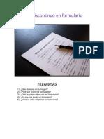 Texto Discontinuo en Formulario