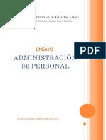 Ensayo Administración de Personal