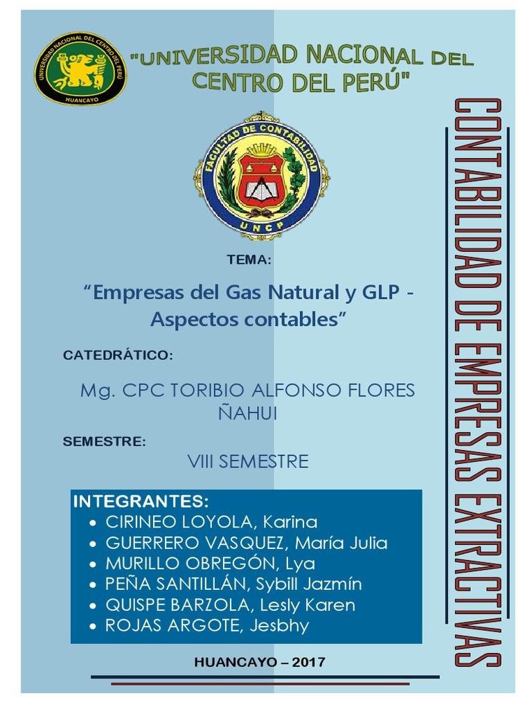 Monografia Empresas Del Gas Natural Y Glp Pdf