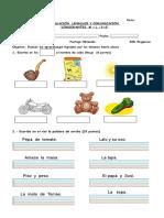 Evaluacion . L, M , P y S