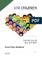 fhcc parent handbook - 2017