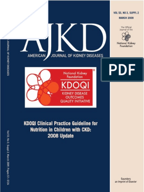 Kdoqui Clinical Practice Guideline | Chronic Kidney Disease