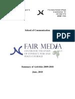 Fair Media Center Annual Report 2009-10