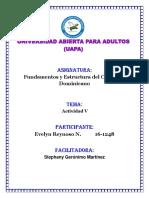Tarea 5- Fundamentos y Estructura Del Curriculo Dom.