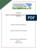 Cuarta Entrega Pedagogia Humana