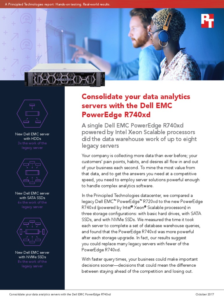 Consolidate Your Data Analytics Servers With The Dell Emc