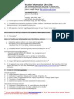 PE App Checklist