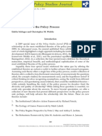 """Schlager, E. & Weible, C. """"New Theories of the Policy Process"""""""
