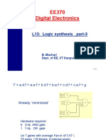 EE370 L13 Logic Synthesis Part 3