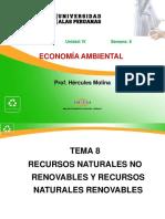 8 Recursos Naturales No Renovables y Recursos Naturales Renovables