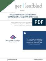 Margaret A. Cargill Philanthropies - Program Director - Quality of Life