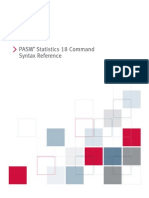 PASW Statistics 18 Command Syntax Reference