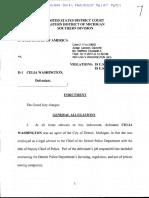 Celia Washington Bribery Indictment