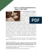 O Rio de Janeiro e o Teatro Experimental Do Negro Artigo