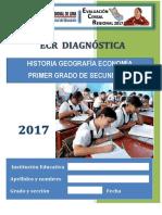 Prueba Ecr Daignóstica Hge 1ro Secundaria