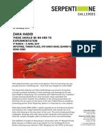 Zaha Hadid Press Release at Artistree - Eng - Final