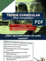 Clase Introductoria 2 TEORÍA CURRICULAR---1