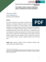 Implementación de un modelo teórico a priori de competencia matemática asociado al aprendizaje de un objeto matemático (Universidad de la Amazonía)