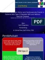 The Relation Between HbA1c and Cardiovascular Events in Patients With Type 2 Diabetes With and Without  Vascular Disease