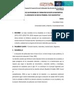 """Diseño y validación de una propuesta de programa de formación docente en matemática para docentes no licenciados de básica primaria"""" (Universidad Castilla La Mancha- Universidad del Norte)"""