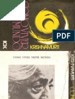 Como Viver Neste Mundo Jiddu Krishnamurti