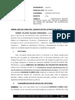 Medida Cautelar en Forma de Embargo de Inmueble Sin Inscripcion Registral de Norma Yolanda Quijada Fernandez