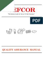 SEFCOR SEFCOR Quality Assurance Manual
