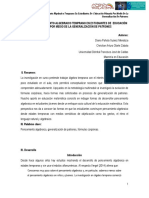 Indicios de pensamiento algebraico temprano en estudiantes de educación primaria por medio de la generalización de patrones (Universidad Distrital Francisco José de Caldas)