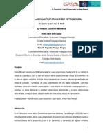 La teoría de las cuasi-proporciones de Pietro Mengoli (Universidad Pedagógica Nacional)