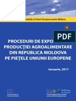 Proceduri de Export Ale Productiei Agroalimentare