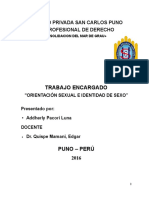 Orientación Sexual e Identidad de Sex1