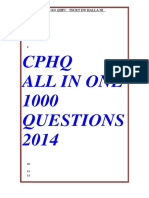 1000 Questions in Cphq